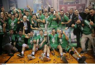Panathinaikos ATHENS win Greek League Cup 'Nikos Samaras' to celebrate first title in a decade