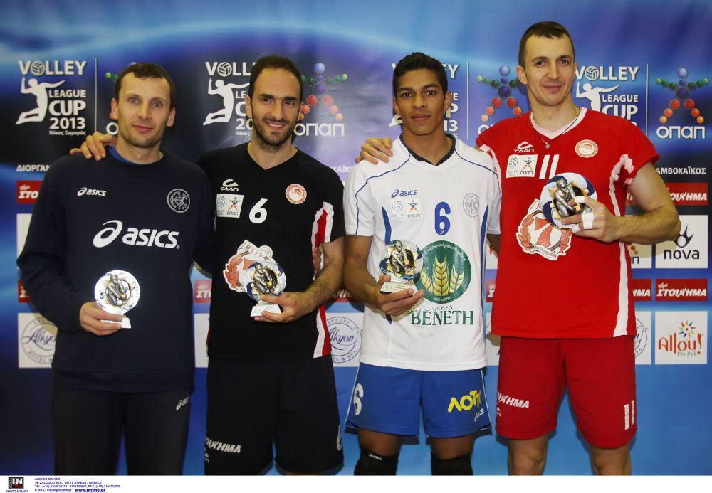 Οι MVP του Κυπέλλου 2013-14 Νικολάκης, Στεφάνου, Ντε Σόουζα, Γιορντάνοφ (MVP)