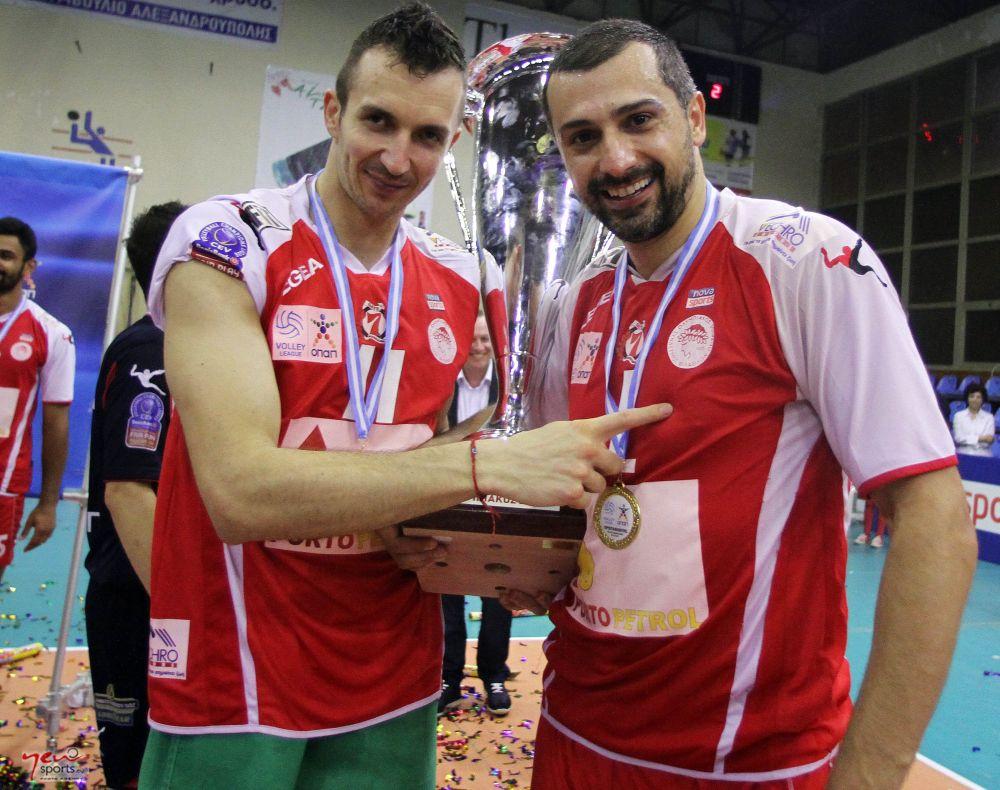 MVP Kυπέλλου Μπόγιαν Γιορντάνοφ - MVP πρωταθλήματος Κώστας Χριστοφιδέλης